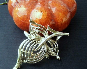 Vintage Brooch silver tone Stylized Mod Fruit 1960s Fashion Jewelry piece Cherry Brooch