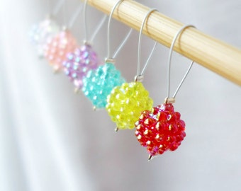 SALE - Fruit Punch - Six Snag Free Stitch Markers - Fits Up To 6.5mm (10.5 US) - Limited Edition