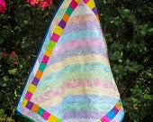 Baby Quilt Rainbow Polka Dot Striped Quilt