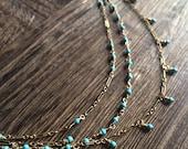 Three strand turquoise