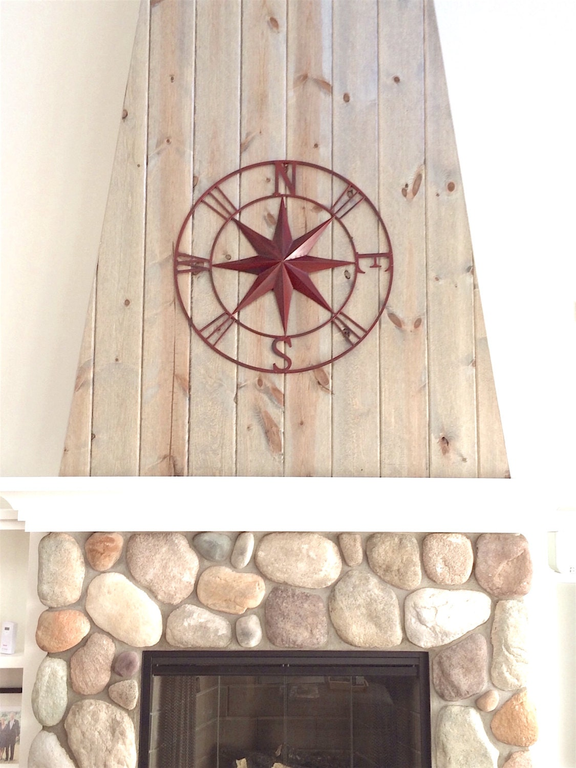 nautical wall decor metal compass wall art nautical wall. Black Bedroom Furniture Sets. Home Design Ideas