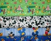 MICKEY MOUSE #3  Fabrics, Sold INDIVIDUALLY not as a group, by the Half Yard