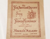 The First American Composer, 6 Songs by Francis Hopkinson, 1918 Schmidts Educational Series No 212 AB