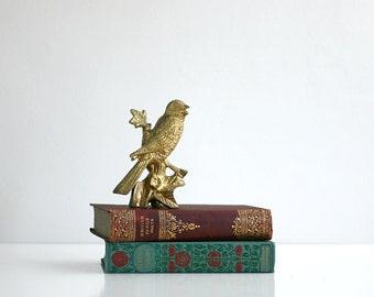 Vintage Mid Century Brass Bird Figurine