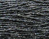 6/0 3 Cut 2 Tone Opaque Black with White Stripe Picasso Firepolish Czech Glass Seed Beads 20 Inch Strand (CW221)