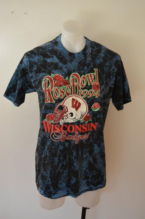 Vintage wisconsin badgers football 1994 rose bowl t shirt for Wisconsin badgers shirt women s