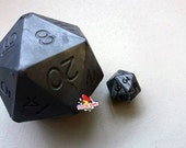 D20 Die Soap with Moving Steel Colored Die Inside | Ocean Rain Scented D20 soap | Tabletop Gaming Soap | Dungeons and Dragons Soap | MtG D&D