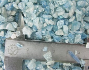 Aquamarine crystals by the gram -  Tumbled pebble nugget chip shard natural small pieces - lot - March Birthstone blue beryl polished chunk