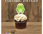 Princess Birthday Party - Set of 12 Frog Prince Cupcake Toppers by The Birthday House