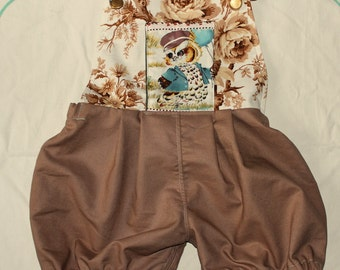 rompers with cute owl pocket for 2-3years