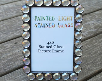 Clear Iridized Gem 4x6 Picture Frame