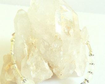 Rose Quartz Bangle Bracelet, UV Sensitive, Handcrafted Jewelry, Gemstone Jewelry, Color Change Jewelry, One Size Fits Most