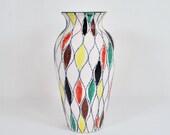 "10"" Fratelli Franciullacci Harlequin Vase"