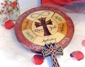 Unity Ceremony Wedding Puzzle  Alternative Custom Designed Personalized Blended Family Wedding Puzzle Wooden Tray Puzzle