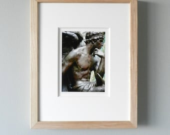 Framed Photography, Custom Framed Print, Winged Angel Wall Decor, Angel Art, Male Angel Urban Art, Framed Art,Framed Wall Art, New York City
