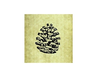 PINE CONE Rubber Stamp~Cling Stamp~Pine Cones~Pine Trees~Christmas~Holiday~Thanksgiving~Fall~Autumn~Forest~Large Cling Stamp (53-11smcling )