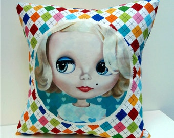 Blythe Doll Pillow cover Big Eyed Art kawaii