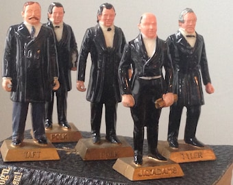 United States President Figurines, US Presidents, All The Presidents Men, Vintage Toy Game Piece Collectible Figurine,
