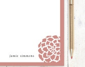 personalized notePAD - DARLING ORNAMENTAL - stationery - stationary - choose color