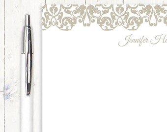 personalized notePAD - LACY EDGE - stationery - stationary - fancy notepad - feminine letter writing paper