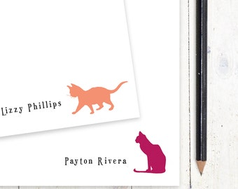 personalized notePAD - KITTEN or CAT - stationery - stationary - choose color