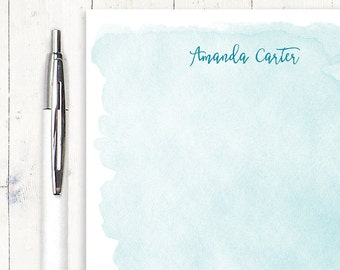 personalized notePAD - WATERCOLOR WASH - stationery - stationary - letter writing paper