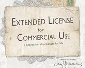 Extended License for Commerical Use by Jen Ulasiewicz Designs