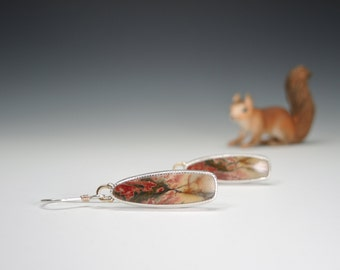 Cherry Creek Jasper, Dangle Earrings, Jasper Earrings, Sterling Silver, 14kt Gold, Handmade