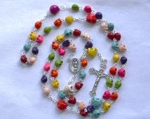 Day of the Dead Sugar Skull Rosary Calavera Dia de Los Muertos Rosario