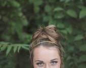 Gold Headband. Brass Headband. Thin Wire Headband. Classic Hair Accessory. Gold Headband. Boho Bridal. Modern. Miniamal.