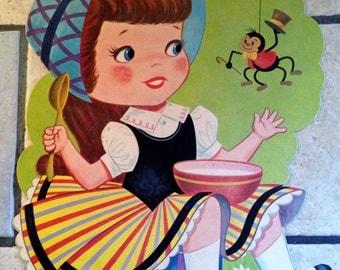 Little Miss Muffet Nursery Rhyme Decorative Poster