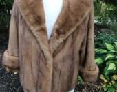 Vintage honey coloured Mink Jacket size 14