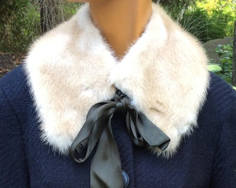 Refurbished Pastel Mink Collar with ties