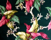 Stunning Hollywood Glam Tropical Floral Fabric// Fab 40s Chic// Cotton Yardage// Upholstery// Drapery// New Old Stock// By the Yard// 9 Yds