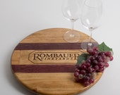 "Rombauer Wine Crate with Inlay featured on our 16"" Lazy Susan"