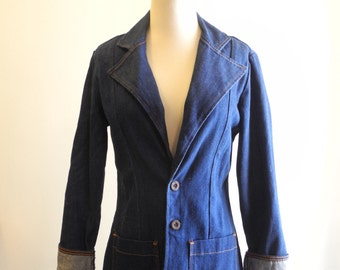 Wrangler 70s dark denim  blazer sz. Small / Medium