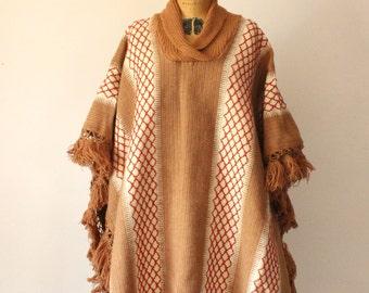 1970s Camel Poncho