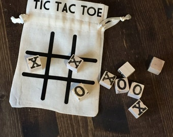 Travel tic tac toe, tic tac toe game, stocking stuffer, travel game, classic game, gift for kids, tic-tac-toe game, game lover gift, game