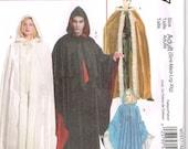 Medieval Renaissance Cloak Hooded Kinsale Cape McCalls 5957 Sewing Pattern Small Medium Large XLarge Unisex Men Misses Womans