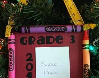 2016 Grade 3 Crayon Keepsake School Photo Ornament