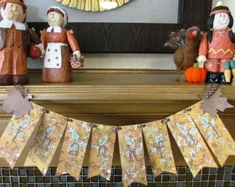 Thankful Thanksgiving Mini BannerFall Decoration Greeting Card