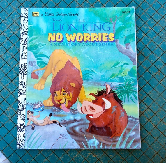 the Lion King No Worries a Little Golden Book vintage