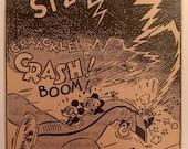 1935 The Story of Mickey Mouse 5x7 Comic Panel BBMM01 Plane Lighting Strike