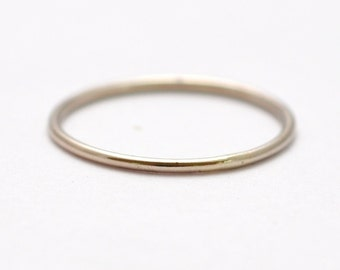 14K Palladium Wedding Ring: Simple Bands