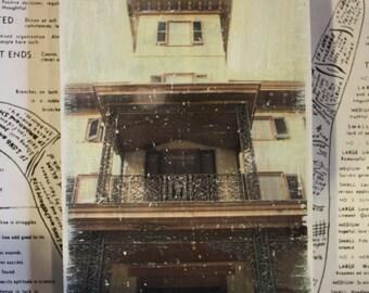 Haunted House, Abandoned, Creepy, Paranormal, Photography, Shutters, Original Art, Miniature Art, Kenhurst, Orbs, 4 x 6