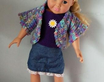 Handmade American girl outfit shirt, sweater, pants, skirt