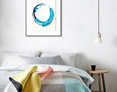 """Contemporary Abstract Art Print, giclee, 5x7"""" or 8x10"""" or 11x14"""", blue, pink, navy  """"Ripple II"""" watercolor print, abstract print, modern art"""