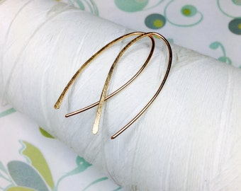 Forged Vermeil 14k Gold - Ovals / gold hoop earrings / 14k gold earrings / vermeil jewelry / gold earrings / hoop earrings / gold hoops