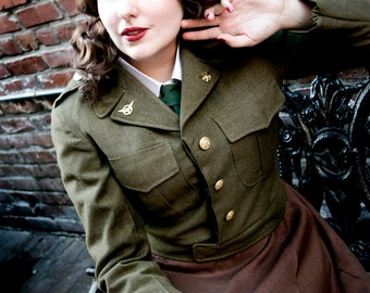 Peggy Carter lace front cosplay wig MADE TO ORDER vintage costume hair piece
