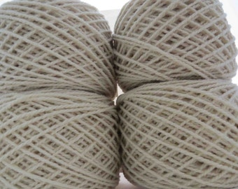 Larger Qty Available - Babydoll Southdown Yarn - Natural White - 2 ply